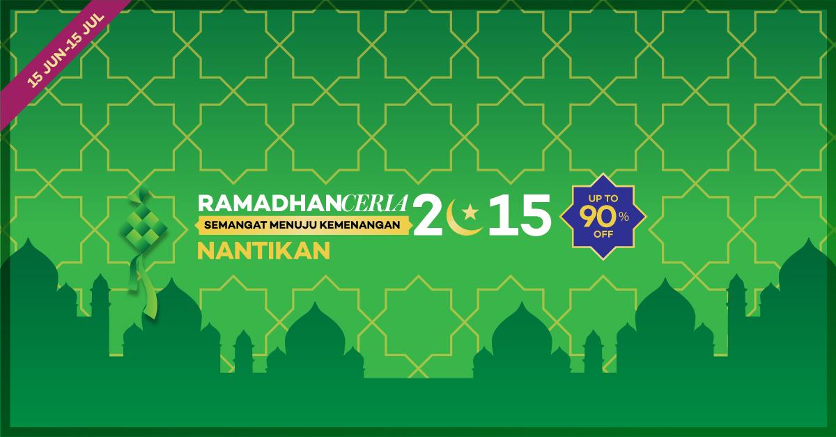 Penawaran Terbaik Lazada, Program Ramadhan Ceria Fashion Muslimah Diskon Up to 90%!