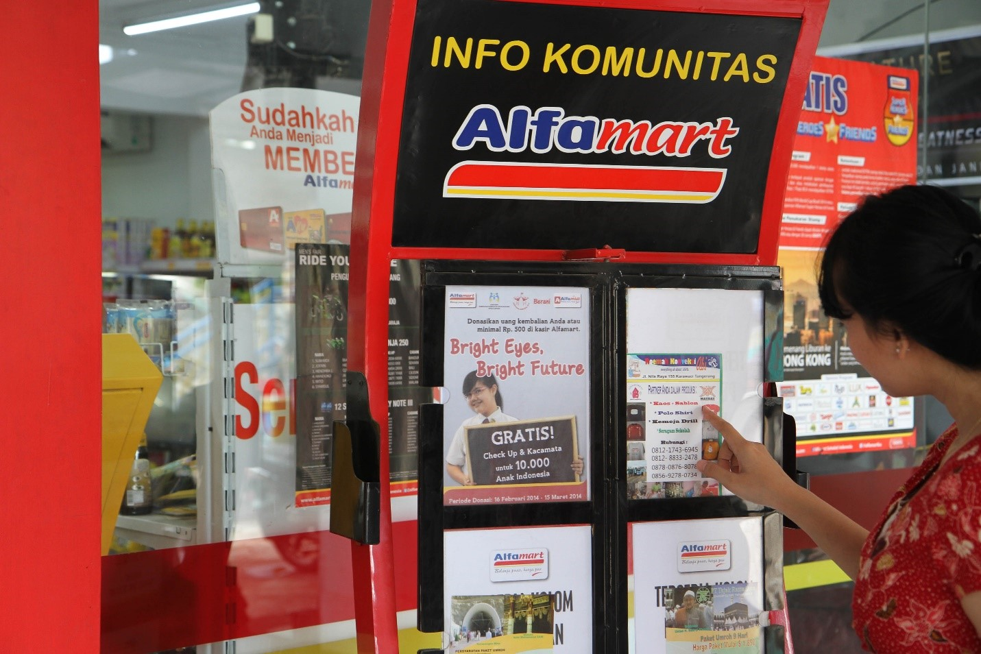 kegiatan komunitas Alfamart